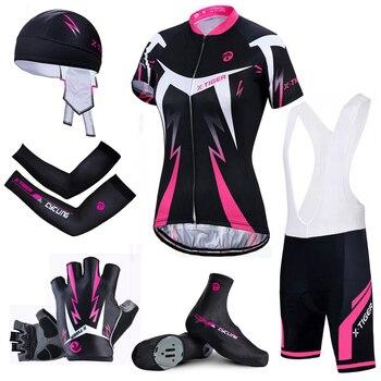 X-Tigre Top Quality Mulheres Ciclismo Definir Bicicleta de Montanha Camisa de Ciclismo Roupas de Verão Ciclismo Quick-Seco Respirável Bicicleta roupas