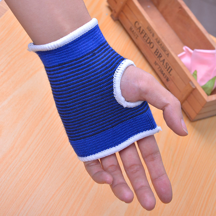 1 Pair Blue Palm Wrist Hand Support Glove Elastic Brace Sleeve Sports Bandage Gym Wrap Cycling Bike Glove Bicycle accessories