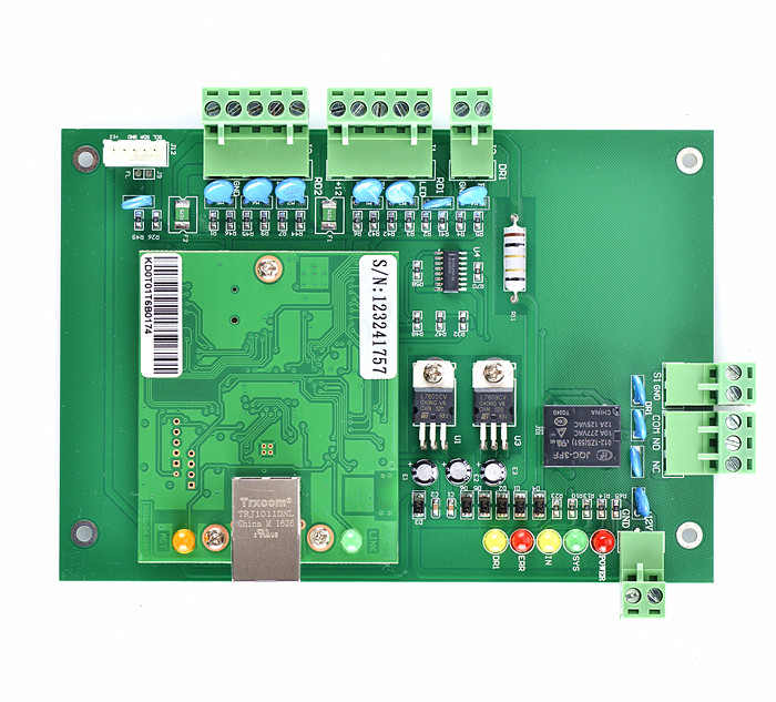 New RFID TCP/IP One Door Access Control Board Green Board TCP/IP+Free English Software T01 biometric face and fingerprint access controller tcp ip zk multibio700 facial time attendance and door security control system