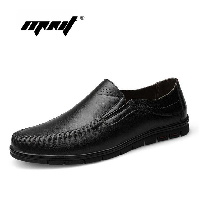 Handmade Genuine Leather Men Flats,Vintage Style Plus Size Shoes Men, Fashion Leather Moccasins Zapatos Hombre
