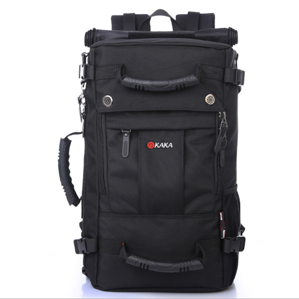 Men Travel Backpack Large Capacity Shoulder Bag Luggage Backpacking Mountaineering Backpack with Lock Multifunction Mochila large capacity men canvas backpack mochila laptop backpack mountaineering versatile bag travel luggage bag