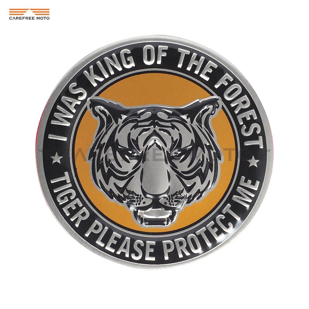 3D Aluminum Beast Tiger Emblem Moto Sticker For Car Motobike Motorcycle Club Symbol Stickers