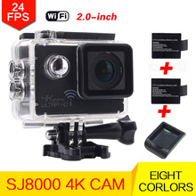 New 4K 24fps camera  Wifi Sports action camera NOVATEK NT96660 Wifi 2 inches waterproof camera helmet mini DV cam