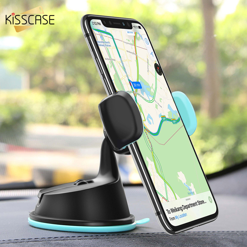 KISSCASE 360 Degree Adjustable Car Sucker Phone Holder GPS Disc Holders 3 in 1 Car Phone holder держатель для телефона в машину-in Phone Holders & Stands from Cellphones & Telecommunications
