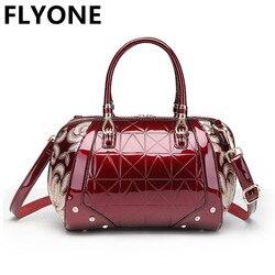 Роскошные вышивки Для женщин сумка Лакированная кожа маленькую сумочку Подушка Форма дамы Сумки цветок Посланник Сумка Bolso