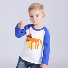 I.Ok Baby Boys Girls Printing Sweatshirts For Spring Autumn 2017 Fashion Children Long Sleeves Kids Cute Tops Bobo Choses LT1003