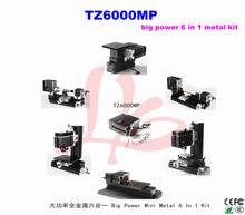 Electroplated Metal type TZ6000MP 6 in 1 mini lathe machine for DIY amateur and school teaching