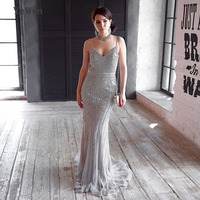 YeWen Robe De Soiree Evening Dress Party Gold Color Red Royal Blue Tulle Crystal Occasion Formal