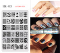 XL Nail Art Stamping, cuadrados Placas Estampación Placas Radiográficas, Clavos, Floral, Flores, Muñeca Rusa, Animales Tema, HK-03, (14.5 CM * 9.5 CM)