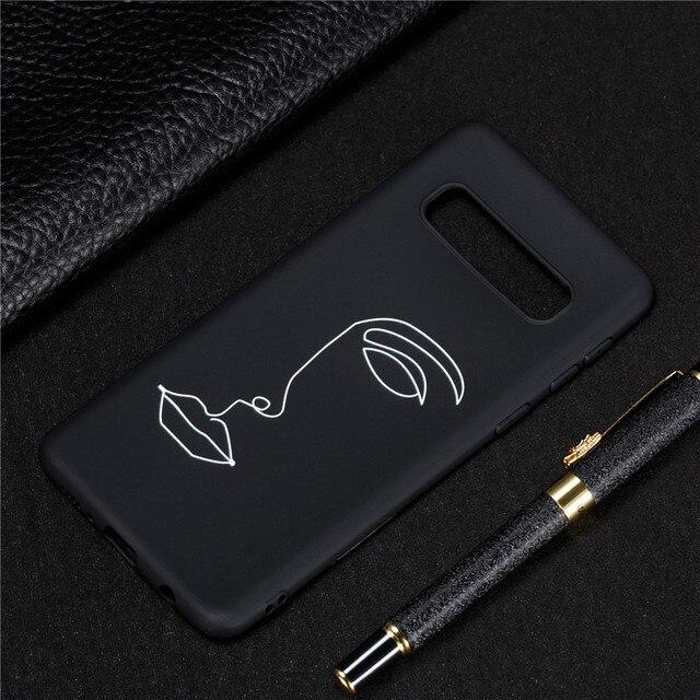 Siliconen Case op voor Samsung Galaxy S10 Couqe Zachte TPU Cover voor Samsung S 10 Plus S10e S10Plus Slanke telefoon Gevallen Capa 1