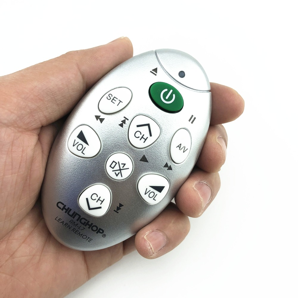 Chunghop rm-L7 Universal Remote Controller Remote Control Learning New DC 3V Mini Learning Remote TV/SAT/DVD/CBL/DVB-T copy chunghop l102 universal single 11 key learning ir remote control silver white 2 x aaa