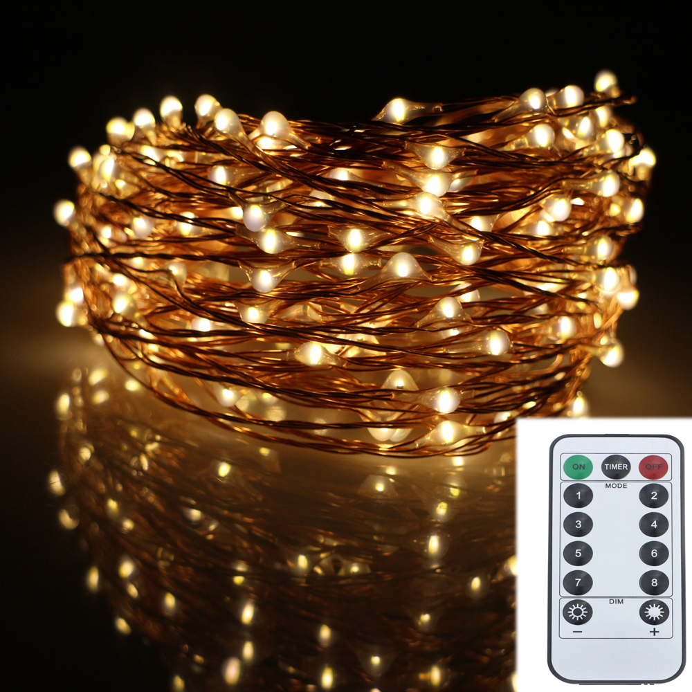Philips Garland Led String Lights : Aliexpress.com : Buy 12M 240LED 8Modes Copper Wire 6AA Battery Operated Led Fairy Lights ...