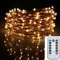 12M 240LED 8Modes Copper Wire 6AA Battery Operated Led Fairy Lights Decoration Wedding Garland Chrismas String Lights Outdoor