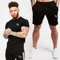 summer 2pcs Running Set Men T Shirt short sleeves Football Soccer Basketball Sport Wear Suit Sportswear Men's Fitness Clothing