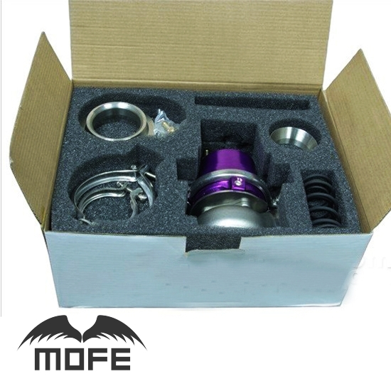 купить SPECIAL OFFER HIGH QUALITY Adjustable 60mm V Band External Waste Gate Wastegate With Flange Purple по цене 4161.45 рублей