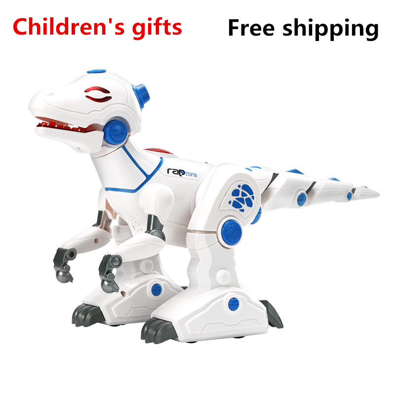 2018 Hot Sale High Tech Robot Dinosaur Simulation Fire Breathing Environment Programmable Children Distance Education Toy Model