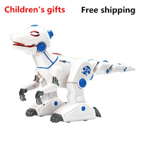 2018 Hot Sale High Tech Robot Dinosaur Simulation Fire Breathing Environment Programmable Children Distance Education Toy Model