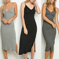 Sexy Women Slim Bodycon Bandage  Strap Casual Dress Ladies Party Pencil Dress Size 8 - 12