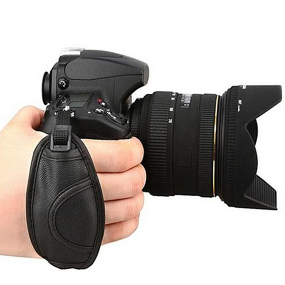 <font><b>Camera</b></font> Hand Strap Grip for Canon 5D Mark II 650D 550D 70D 60D 6D 7D <font><b>Nikon</b></font> D90 D600 <font><b>D7100</b></font> D5200 D3200 D3100 D5100 D7000 for Sony image