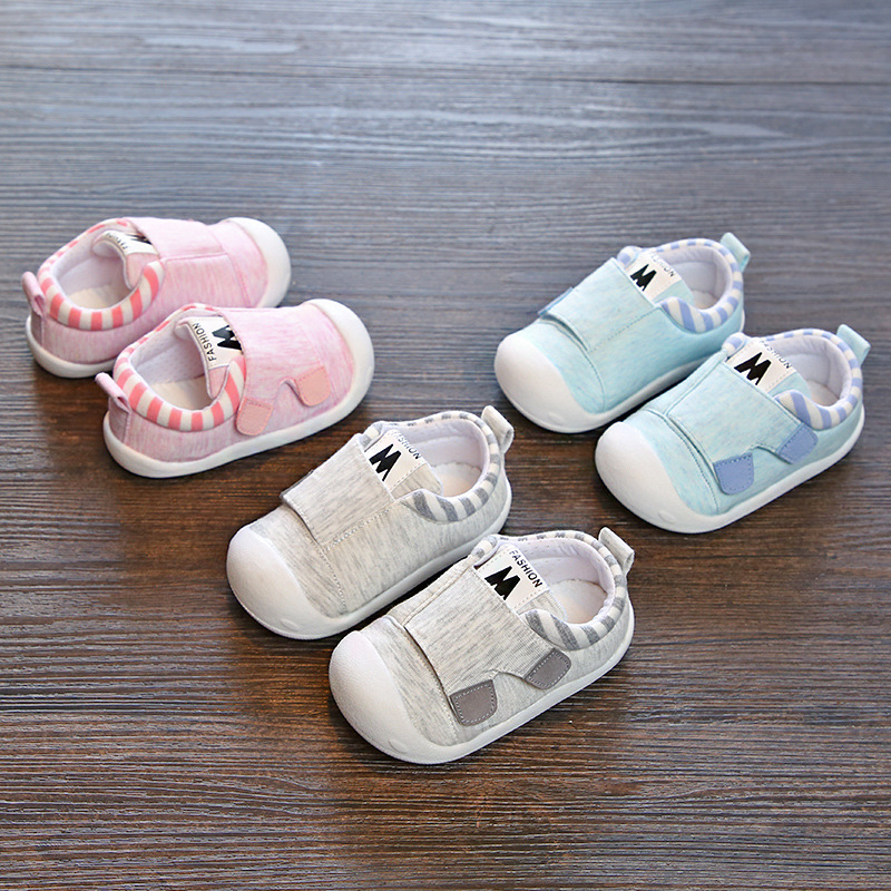 2018 Autumn Infant Toddler Shoes High Quality Baby Girls Boys Shoes Soft Bottom Anti-slip Stripe Babies Kids First Walkers Shoes 2018 new baby infant shoes 0 18m boys girls casual shoes soft cartoon high quality spring autumn fashion baby first walkers cute