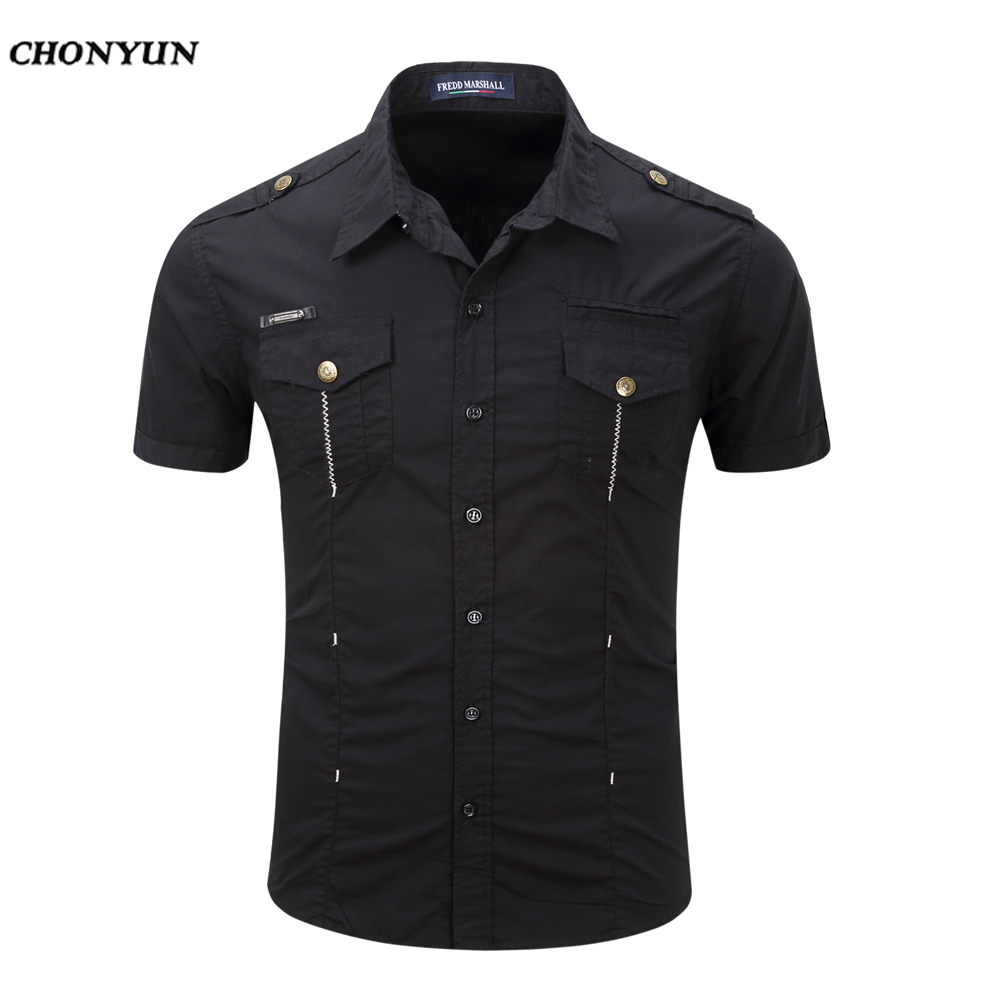 Business Men'S Slim Fit short Sleeves Casual Shirt 2