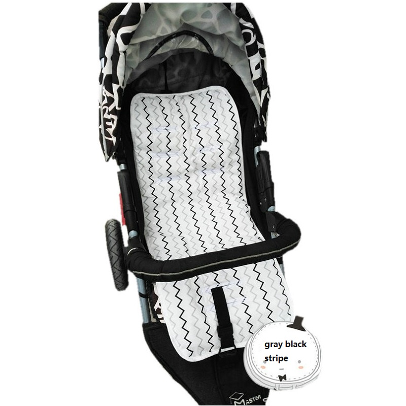 2017 New Baby Stroller Seat Cushion 100 Cotton Pushchair Seat Pad For Baby Prams Stroller Accessories