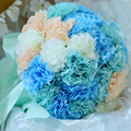 2017 Beautiful Handmade Flowers Decorative Artificial Rose Flowers Pearls Bride Bridal Lace Accents Wedding Bouquets with Ribbon