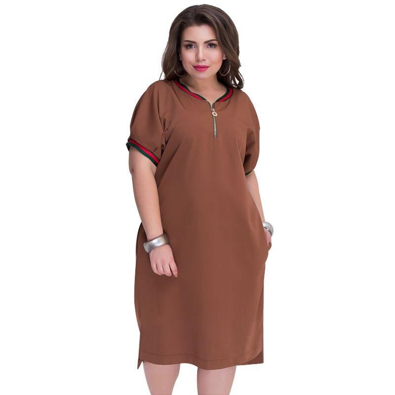 Vestido De Verano A La Moda 2018 De Color Sólido Para Mujer