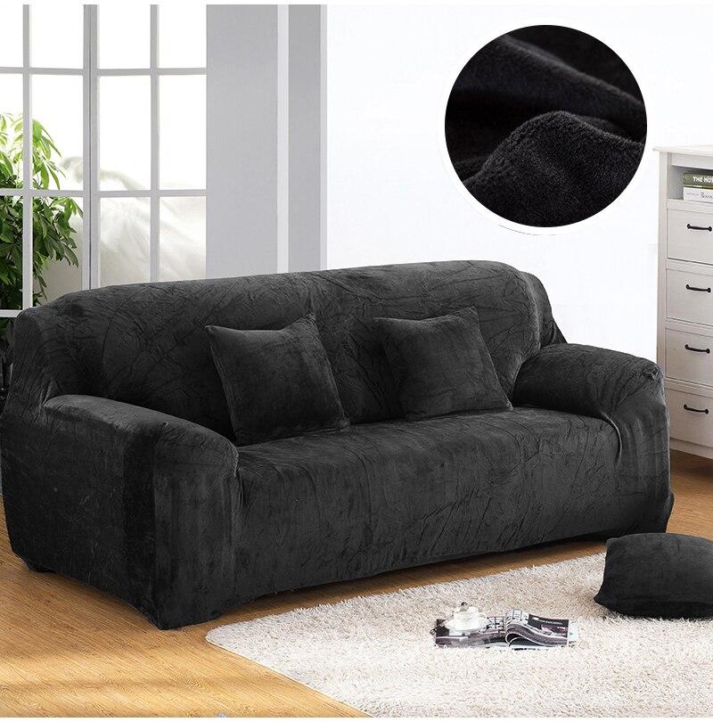 Housse de canapé velours couleur noir
