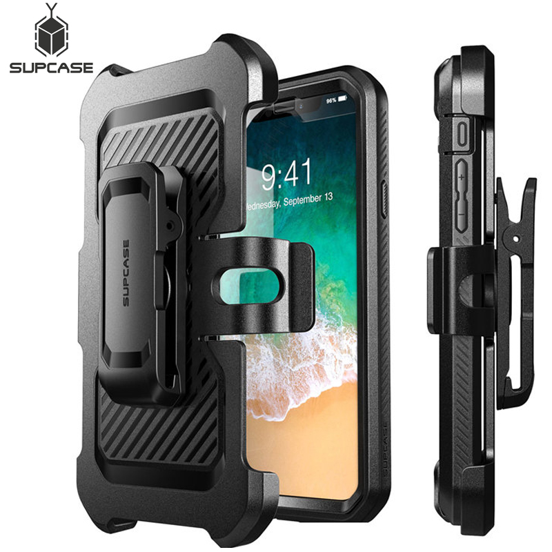 SUPCASE For iPhone Xs Case UB Pro Series Full Body Rugged Holster Clip Cover with Built in Screen Protector For iPhone X CaseFitted Cases   -