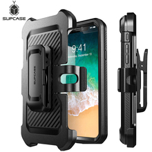 SUPCASE For iPhone Xs Case UB Pro Series Full Body Rugged Holster Clip Cover with Built in Screen Protector For iPhone X Case