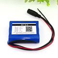 12V 2600mAh 18650 lithium battery pack 12.6V11.1V 5.5MM plus lead FOR Samsung 26FM batteries