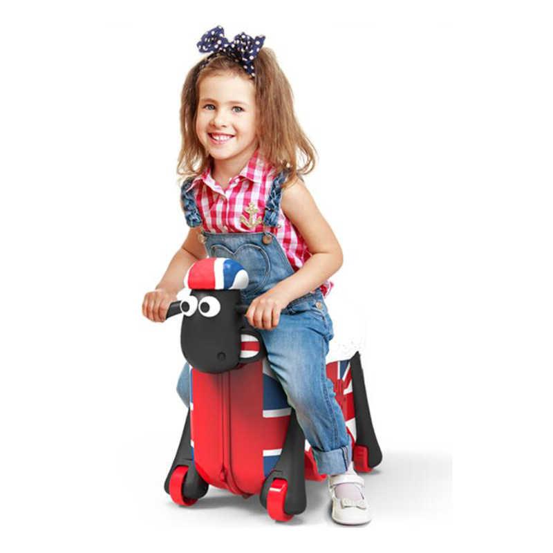 旅行物語にトロリースーツケース赤ちゃんのおもちゃ一緒に引っ張る荷物バッグ子供のための