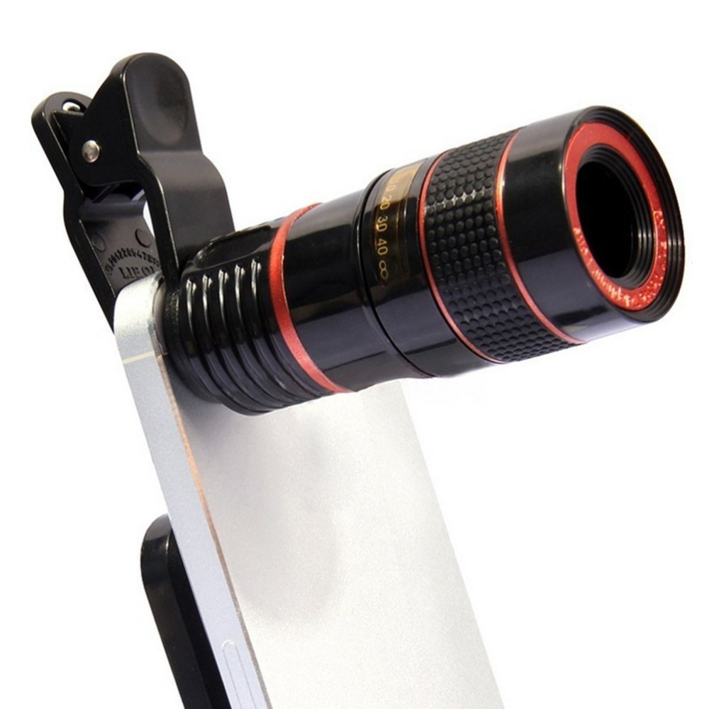 FULCOL Universal 8X Optical Zoom Portable Mobile Phone Telescope  Camera Lens And Clip For Smart Phone