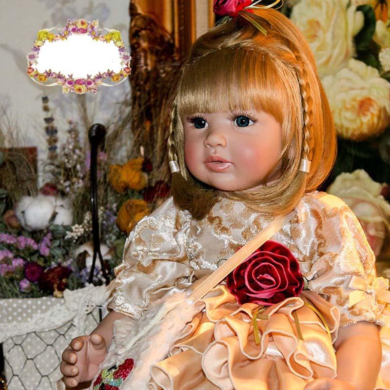ตุ๊กตาเด็กทารก Reborn ตุ๊กตาซิลิโคนอ่อน 22 นิ้ว 55 เซนติเมตรสมจริง & เหมือนจริง Handmade Alive ของเล่น Happy ตุ๊กตาเด็กวันเกิดไวนิลของขวัญ-ใน ตุ๊กตา จาก ของเล่นและงานอดิเรก บน   2