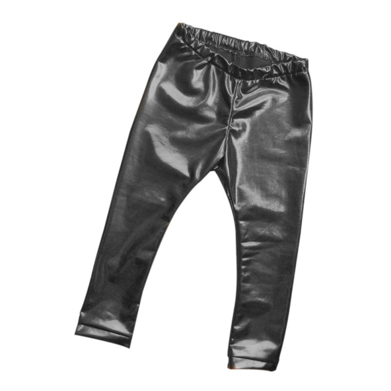 Trousers Pants Leggings Girls Baby Children Knitted Casual New HOT Black Solid Skinny