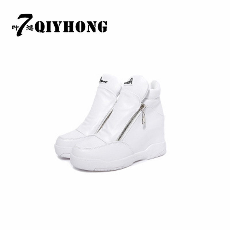 Female boots fall and winter within the high slope with a single shoe side zipper high winter winter cotton warm boots martin new winter with thick british style short canister female fall side zipper boots