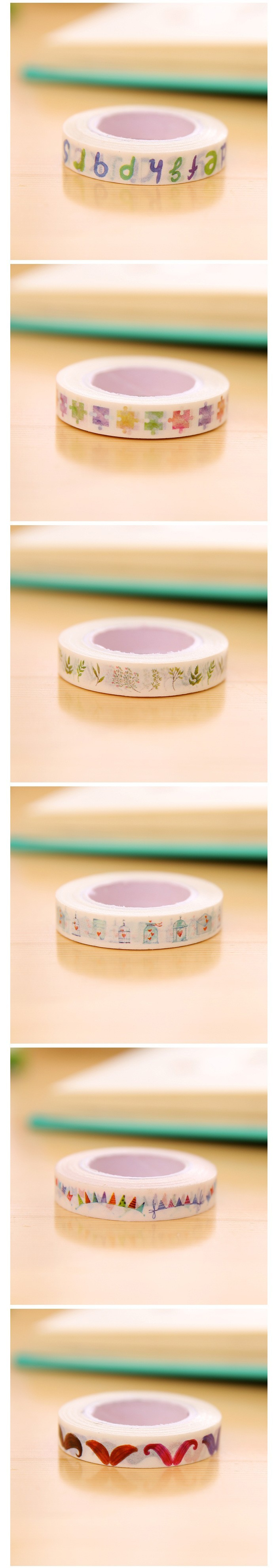 1PCS Creative Stationery Segmentation Line Japanese Washi Paper Tape ...