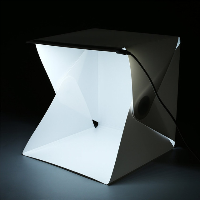 22.6*23*24cm LED Diffuser Light Tent Photography Folding lightbox Photo Box Cube Backdrops & 22.6*23*24cm LED Diffuser Light Tent Photography Folding lightbox ...