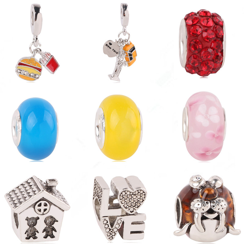Aifeili Wheat Beads Pendant Christmas Bell Old Man Mask Pendant Diy Fit Pandora Bracelet Jewelry European Charm At All Costs Jewelry & Accessories