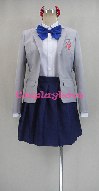 Monthly Girls' Nozaki-kun Chiyo Sakura Uniform Cosplay Costume School Uniform