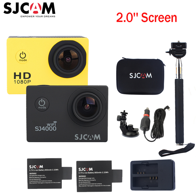 100% Original Sjcam SJ4000 Series 2'' Screen Sj4000 SJ4000 WIFI 1080P HD 30M Waterproof Diving Sports Action Camera Car Mini DVR