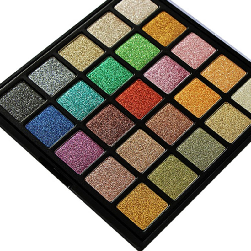 2017 25 Colors make up Diamond Golden Color Powder Glitter Eye Shadow Palette Shiny Eyeshadow Palette Makeup Cosmetics maquiagem