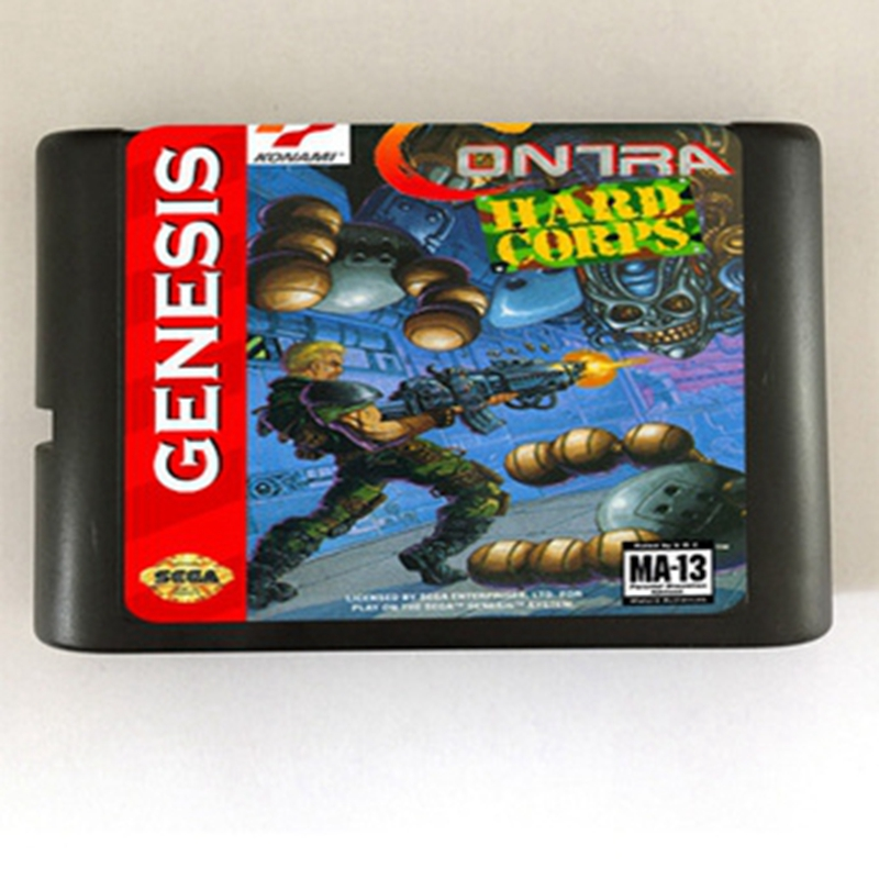 Contra Hard Corps NTSC-U Game Cartridge Newest 16 bit Game Card For Sega Mega Drive / Genesis System