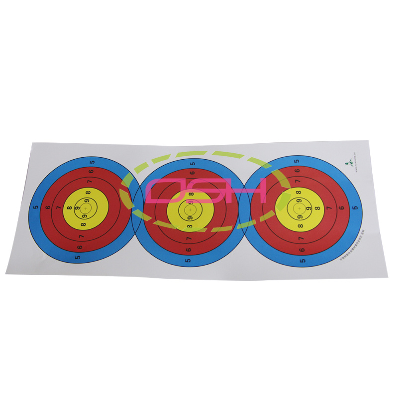 10pcs/lot Target Paper 23*9inch Archery Full Ring Aim Shooting Target Paper for Crossbow Slingshot