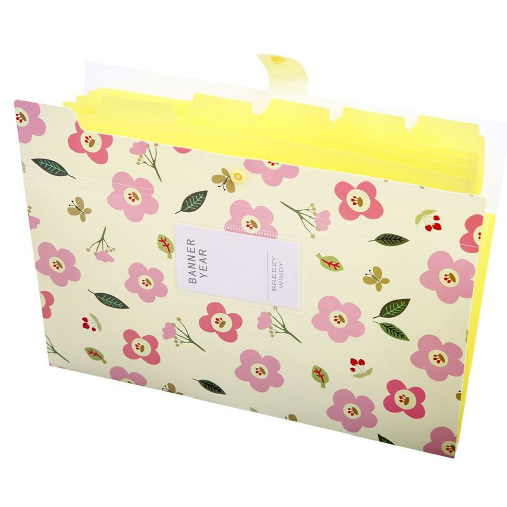Skydue Floral Printed Accordion Document File Folder Expanding Letter Organizer (Yellow) skydue floral printed accordion document file folder expanding letter organizer blue