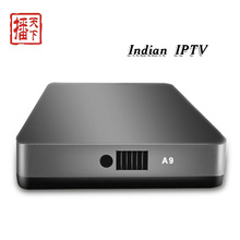 A9 inteligente android tv box iptv Indio canales hd tv receptor set-top box android google play store android 4.4 televisión