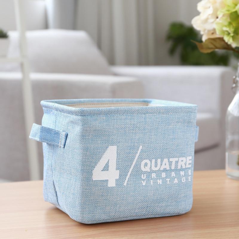 New Fashion Storage Boxes Home Cotton Linen Clothes Basket Bra Necktie  Socks Storage Box Bag Washing