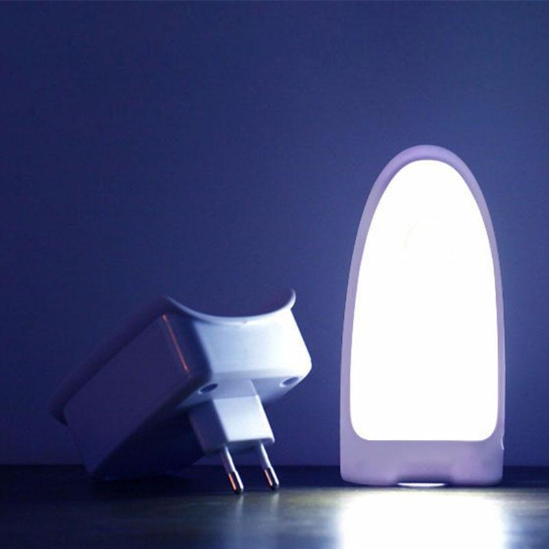 Wall Socket Human Body Induction Light Sensor LED Night Light Wireless Rechargeable Emergency Night Lamp Flashlight EU Plug