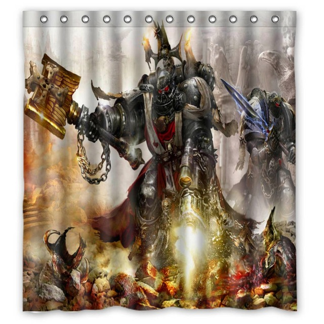 Anime Shower Curtain One Piece Dragon Ball Z Bleach Fairy Tail Naruto Together Warhammer